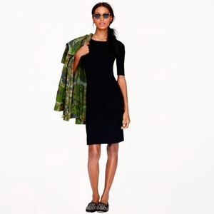 J.Crew Black Wool Paneled stretch dress 0